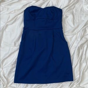 Strapless mini dress with pockets! Size Medium